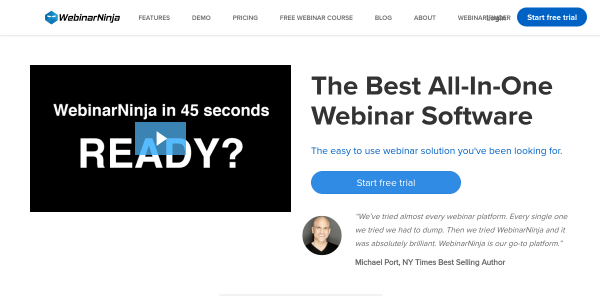 20% Off all plans at WebinarNinja