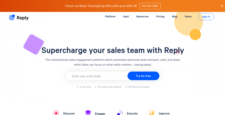 15% Off at reply.io