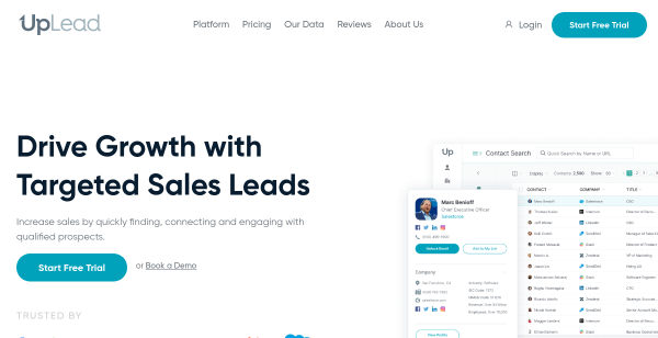 25 Free Leads at UpLead