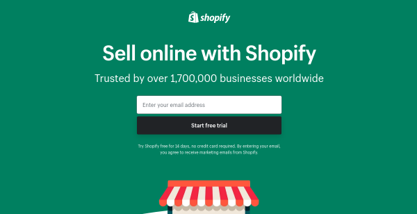 14 Day Free Trial at Shopify