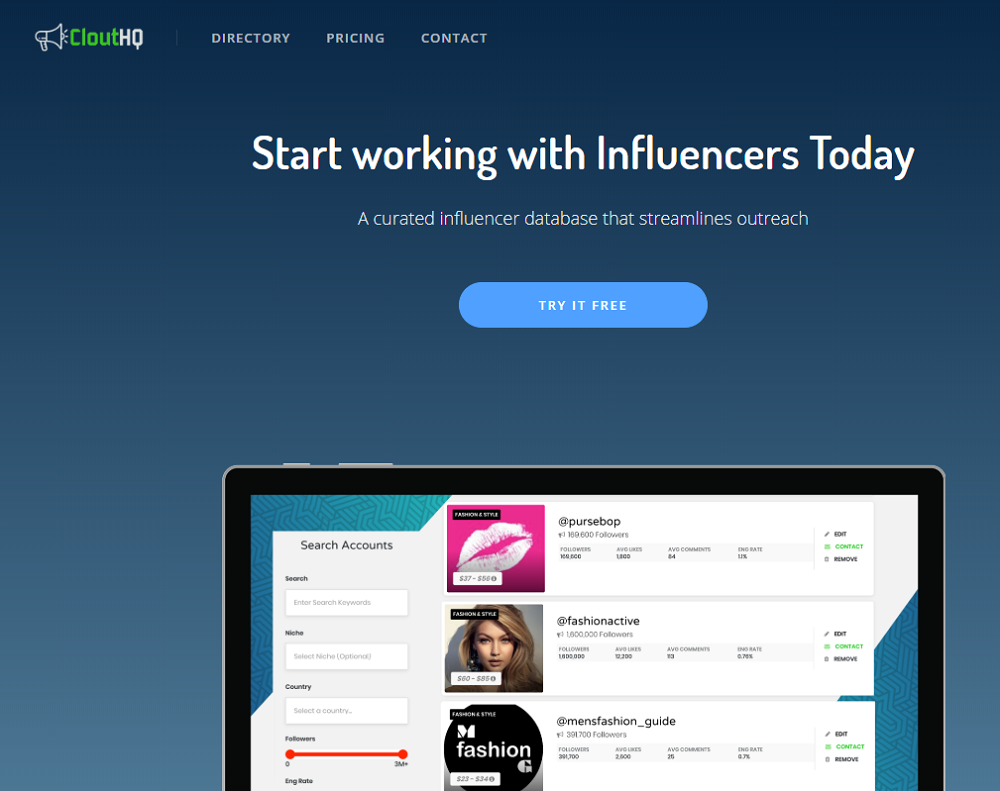 CloutHQ - The Largest Platform of Instagram Influencers