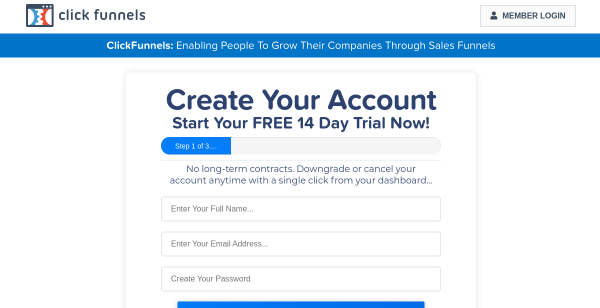 14 Day Free Trial at ClickFunnels