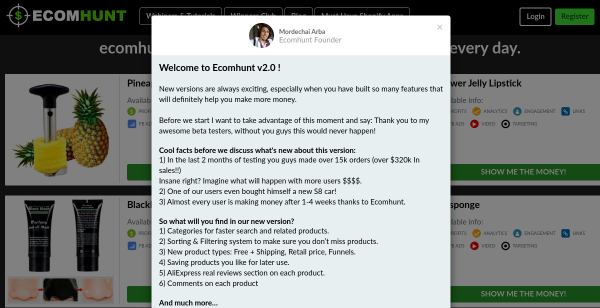 14 Day Free Trial at Ecomhunt