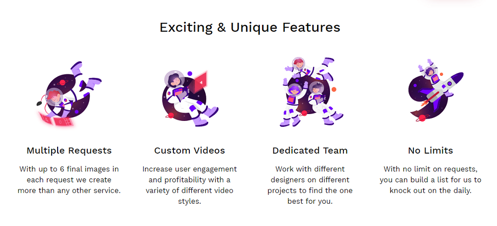 What Are The Features Of NoLimitCreatives?