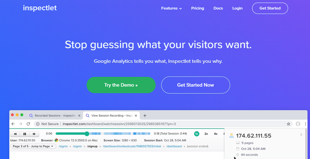 Inspectlet- The Sure Way To Know What Visitors Want