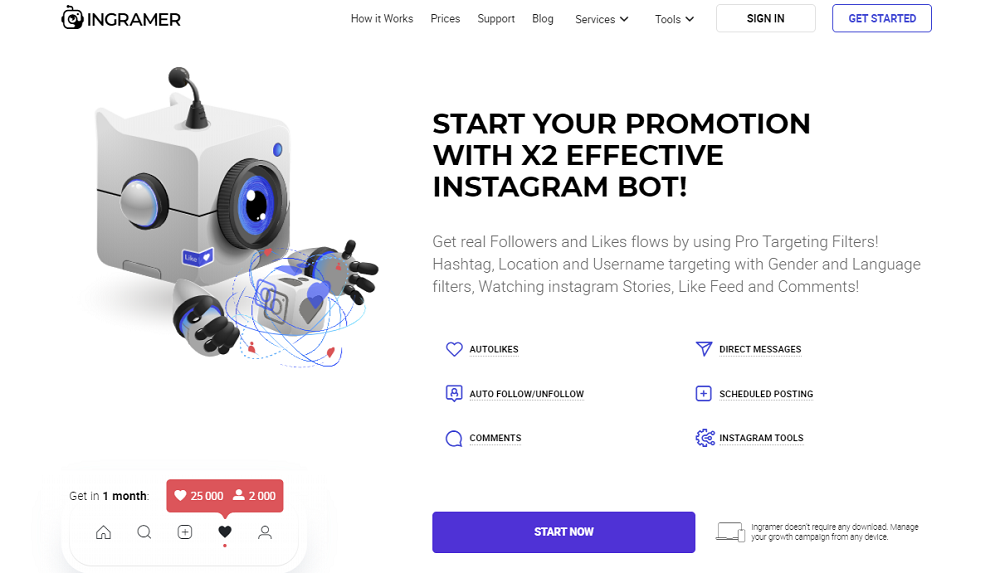 Ingramer - Your Automated Instagram Promoter