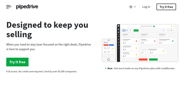 30 Day Free Trial at Pipedrive