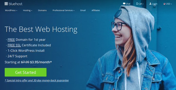 45% Off at Bluehost