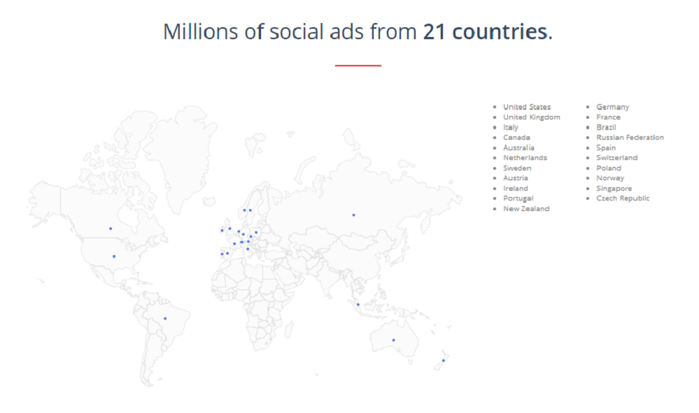 Social Ad Scout - Millions of social ads from countries