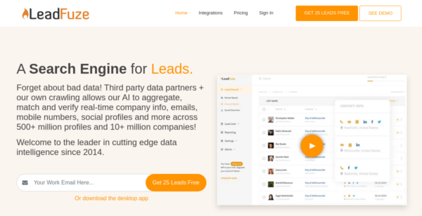 50 Free Leads at LeadFuze