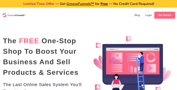 Lifetime Free Trial at Groove Funnels