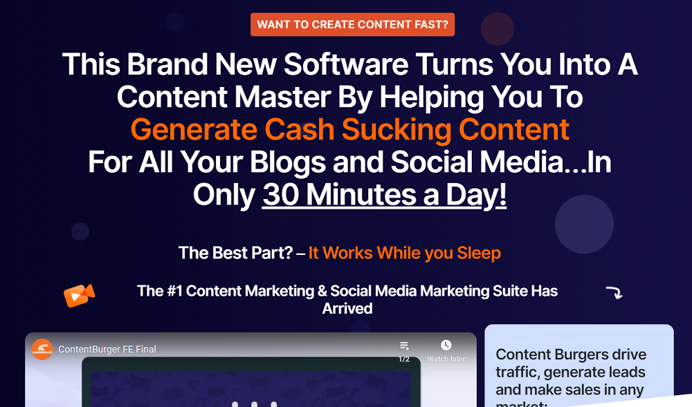 Content Burger: The Content Assistant That Helps You Turn Your Contents to a Gold Mine.
