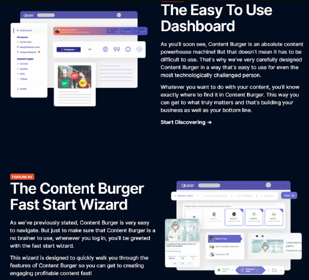 What Are The Features of Content Burger?