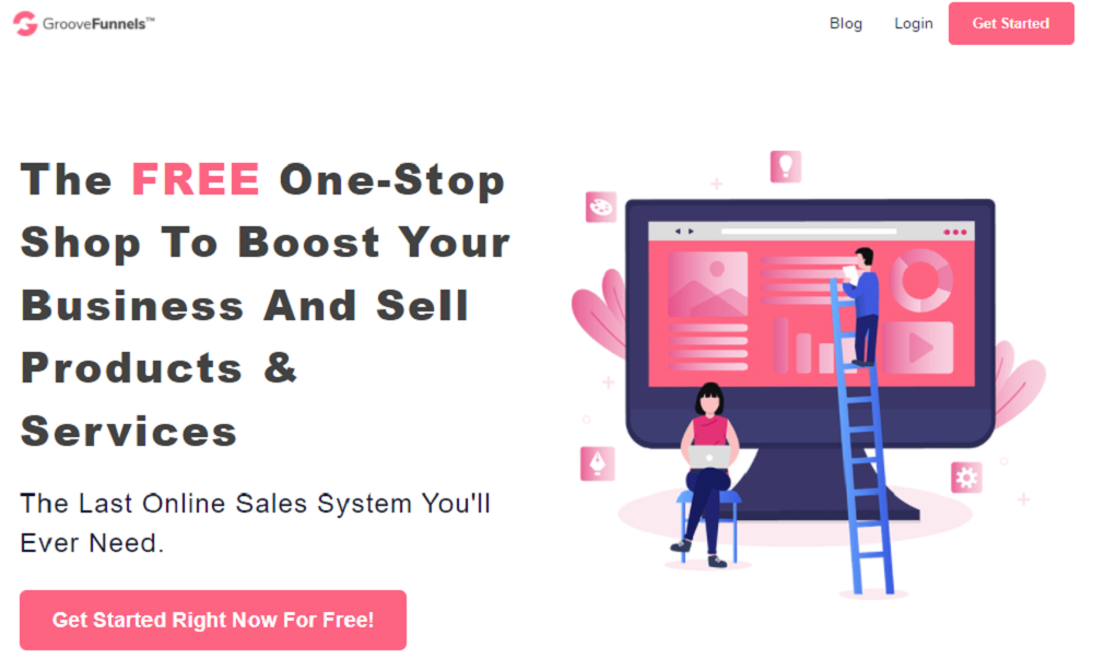 GrooveFunnels- an all in one tool to build your business page and boost your sales funnel.