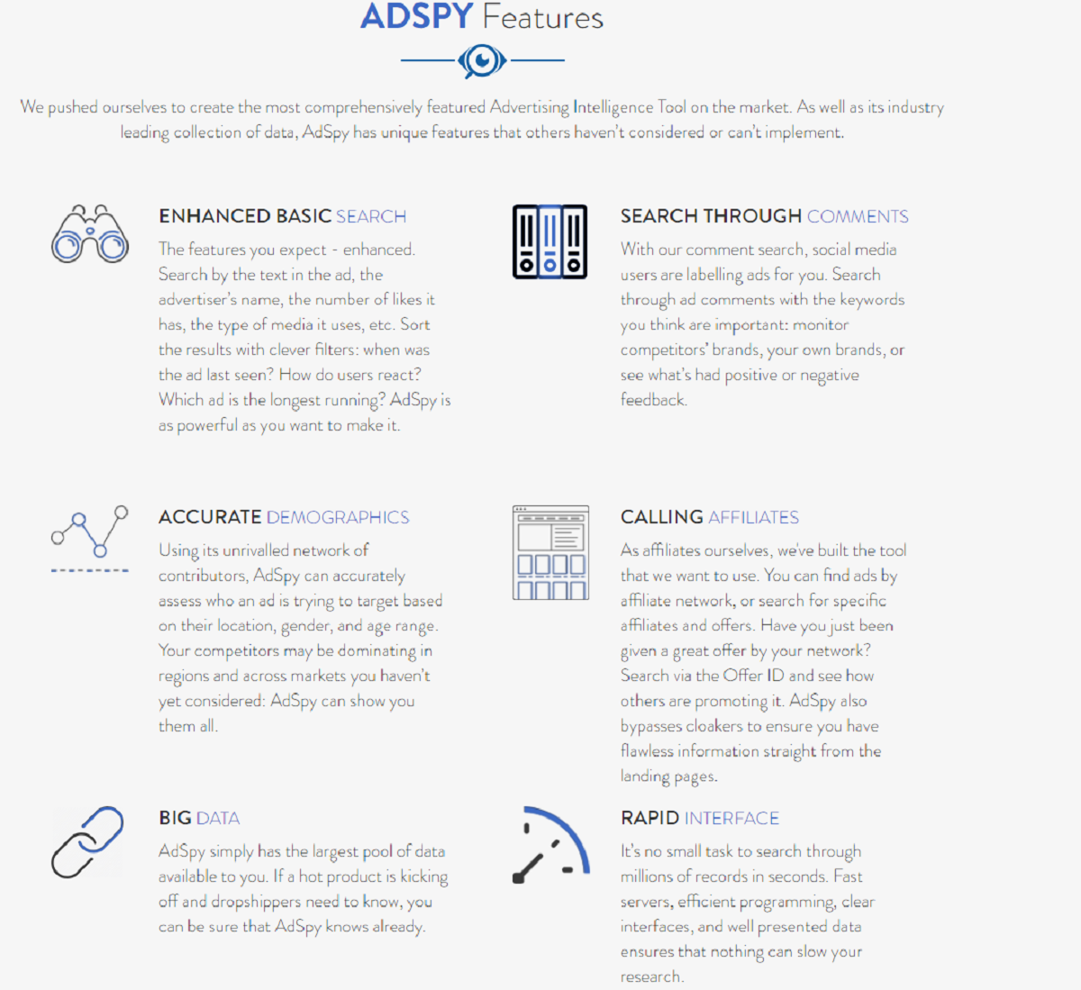 What Are the Features of Adspy?